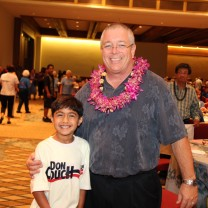 DJ & Don at the Aloha Senior Luncheon