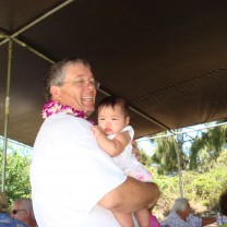2009 Mahalo party for volunteers - Youngest supporter